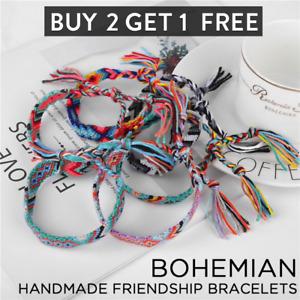 Handmade Nepal Friendship Woven Bracelets Band Braided Wristband Women Jewelry