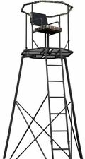 15' Tripod Hunting Stand with Seat Tree Deer Ladder Bow Treestand RealTree NEW