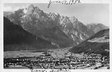 Lienz Austria panoramic birds eye view of area real photo pc Y12004