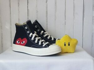 Comme Des Garcons PLAY Converse High Black