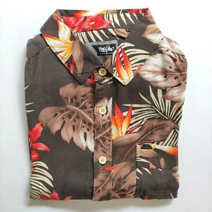 Mossimo Men's Floral Short Sleeve Shirt Size L