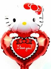 R13F2 No Helium Balloon! Foil Balloons Hello Kitty Birthday Heart Valentinsta