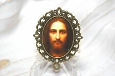 Custom Bronze Rosary Center Part/Color/Rosary Making - Serene Jesus, Son of Mary