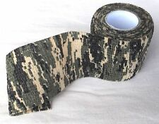 Camo cloth self cling tape wrap for hunting gun