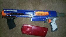 NERF RAIDER CS-35 GUN RAPID DART BLASTER SHOOTER RIFLE AND CLIPS