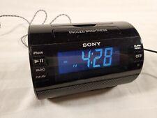 Sony ICF-C11IP iPod/iPhone Audio Alarm Speaker Dock Clock With Antenna & Power