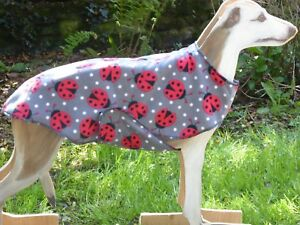 WHIPPET / LURCHER, FLEECE COAT /JUMPER, DOG  PAJAMAS WITH BELLY PANEL 14''-30',