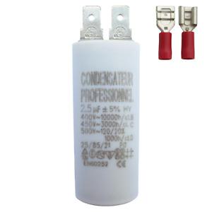 Condensateur 2.5 µF uF moteur hotte, store, volet, VMC, pompe, climatisation ...