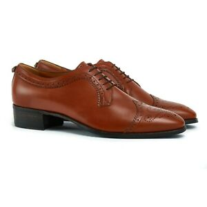Men's Gucci Brogues UK 8 EU 42 Brown Leather Shoes Brand New RRP £525