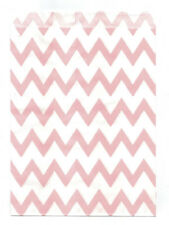 25 Pcs Light Pink Small Chevron5x7 Print Paper Gift Bags Favor Candy Shop