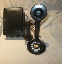 Western Electric Black Candlestick Telephone and Subset - No. 2 Dial.