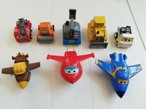 Superwings Bundle Vehicles Planes x 8 Super Wings Lot Small Size