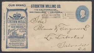 US, 1899 Milling and Flour Advertising cover to EL SALVADOR