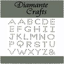 Diamante Alphabet Letters Self Adhesive Rhinestone Craft Embellishments Gems UC