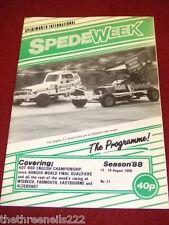 SPEDEWEEK - HOT ROD ENGLISH CHAMPIONSHIP - AUG 13 1988 # 31