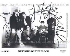 THE NEW KIDS ON THE BLOCK GROUP SIGNED AUTOGRAPHED 8x10 RP PHOTO WAHLBERG KNIGHT