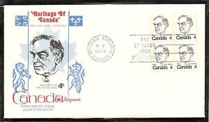 Canada SC # 589 William Lyon Mackenzie King FDC. BLK4. Kingswood Cachet