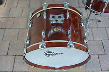 "VINTAGE GRETSCH USA 22"" WALNUT LACQUER 4247W BASS DRUM for YOUR DRUM SET! #V138"