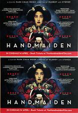 THE HANDMAIDEN FILM POSTCARDS PARK CHAN WOOK KIM MIN HEE  KIM TAE-RI HA JUNG-WOO