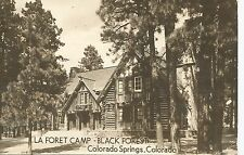 Colorado Springs Co La Foret Camp-Black Forest Real Photo Postcard 1949