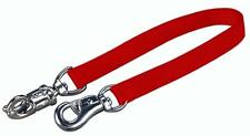 "Hamilton Double Thick Trailer Tie w/ Panic Snap & Bull Snap for Horse 1""x20"" Red"