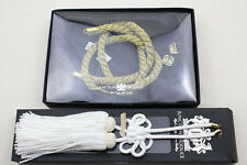 SET JUNCTION PRODUCE VIP AUTO GOLDEN KIN TSUNA ROPE & WHITE JP FUSA KIKU KNOTS :