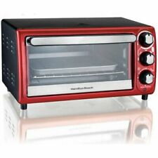New ListingHamilton Beach 4-Slice Red Toaster Oven with 5 Cooking Settings, Model 31146