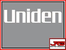 Uniden Vinile Adesivo logo in bianco