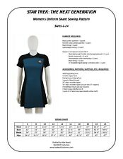 Star Trek Sewing Pattern - Starfleet Uniform Skant - TNG (Women's)