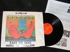 1989 Sacramento CA Private / SMALL LABEL BUNKUM LP Easy To Take HARD TO SWALLOW
