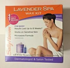 Sally Hansen Lavender Spa Wax Hair Removal Kit for Body Legs Arms and Bikini A50