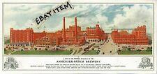 1910 pamphlet ANHEUSER BUSCH BREWING ASSOCIATION St. Louis Missouri PRE PRO Beer