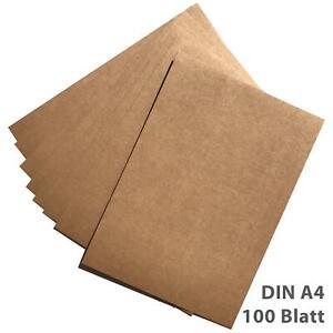 Kraftpapier Kraftkarton DIN A4 100 Blatt 280g/m² Bastelkarton braun Hochzeit