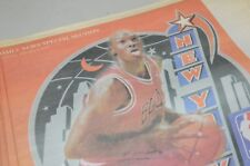 Michael Jordan 1998 New York Newspaper Insert NBA Allstar Basketball Game
