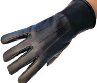 Genuine leather gloves women very warm