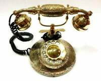Solid Brass French Victorian Style Rotary Dial Phone Telephone