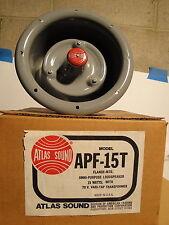 New listing Atlas Sound Apf- 15T Metal Omni Purpose Loudspeaker 15 Watt - Audio, Pa, Paging