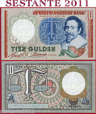 NETHERLANDS  OLANDA - 10 GULDEN 23.3. 1953  - P 85  - BB++ / VF
