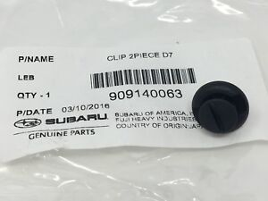 2009-2020 Subaru Air Cleaner Inlet Duct Clip Impreza WRX Legacy Sti 909140063