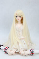 "BJD Doll Hair Wig 8-9""1/3 SD DZ DOD LUTS Light Blonde Long Straight Wig"