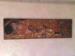 Il bacio Dipinto di Gustav Klimt quadro arredamento casa splendido