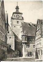 Ansichtskarte Rothenburg ob der Tauber - Weißer Turm - 31.7.55 -  schwarz/weiß