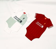 LIVERPOOL FC BABY VEST SET TWIN PACK BABY KIT LFC OFFICIAL PRODUCT 2017/18