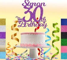 CUSTOM Glitter Cake Topper Personalised,16,18,21,40,50,60,30th Birthday Deco.