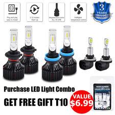 For Kia Soul 2012-2013 6x H7 H11 881 LED Headlight Fog Light Combo White Bulbs