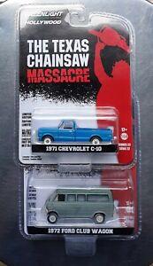 Greenlight THE TEXAS CHAINSAW MASSACRE 1971 Chevrolet C-10 / 1972 Ford Club