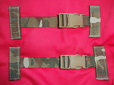 British Army Osprey Molle Pack of 2x T Bar Side Clips / Straps - MTP - Gr1 USED