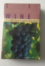 A Celebration of Wine - 42 Facts and Fancies Cards w/recipes. Sealed