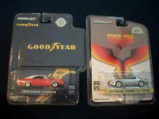 Greenlight Exclusive 1969 DODGE CHARGER & 77 PONTIAC FIREBIRD T/A  DieCast 1:64