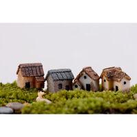 4 Stk. Feenhaus Mini Haus Elfenhaus Wichtelhaus Desktop Garten Deko Figur Set DE
